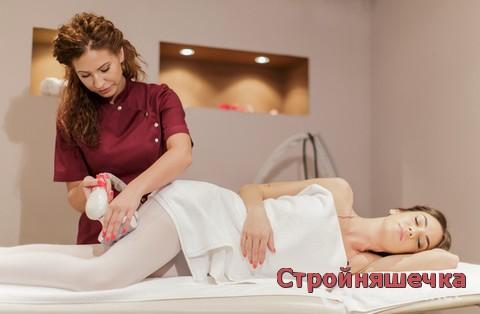 Массаж ног в салоне для похудения и против целлюлита